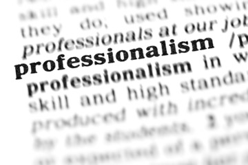 professionalism (the dictionary project)