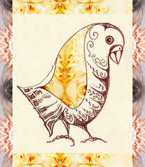 Decorative ornamental bird