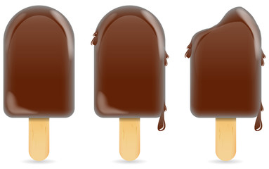 classic chocolate ice cream bar or ice pop