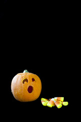 Jack-o-lantern Surprised by Candy Corn