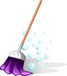 broom in a bubble background