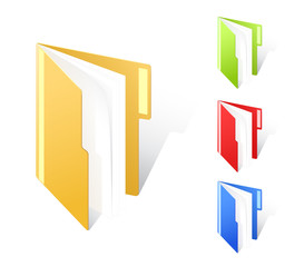 multicolored full folders with textfield