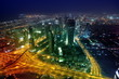 Panorama Dubai city at night