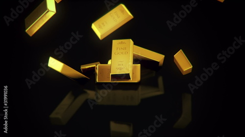 rain of gold bars
