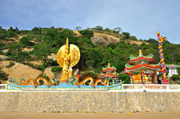 Thousand hands of god (u lai) at kao takiab, huahin, thailand