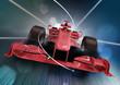 3d render, formula one car concept