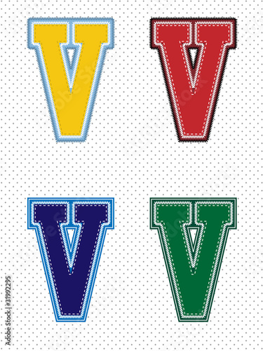 Vector Alphabet - Tackle Twill
