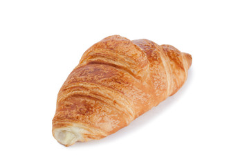 Golden croissant isolated