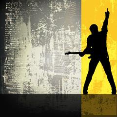 Guitarist Vector Background/Flyer Template