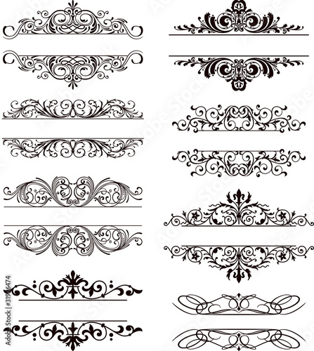 flourish vector labels