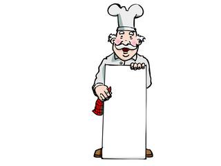 cuisinier pancarte