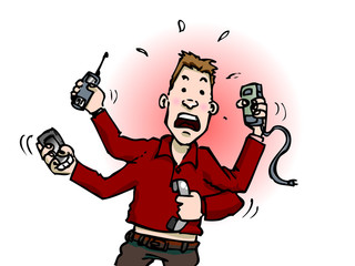 stress téléphone