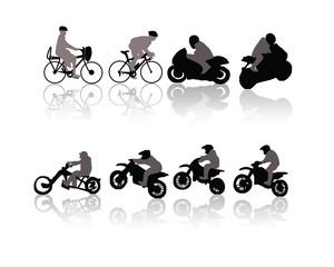 motos et vélos