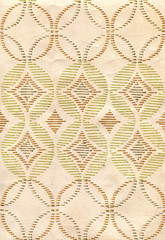 vintage wallpaper with geometric patterns