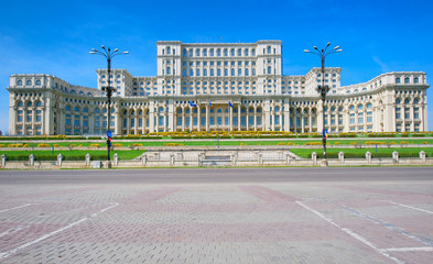 Palace Of The Parliament, Bucharest Romania - front view