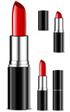 set of the lipsticks isolated on white background