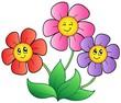 Detaily fotografie Tři karikatura květiny