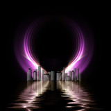 Futuristic metropolis poster