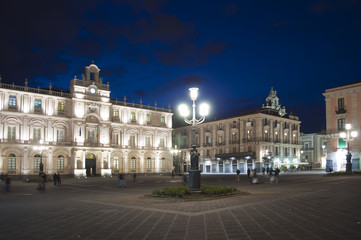 Square in town of Catania Sicily Italy