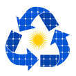 riciclo con pannelli solari