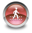 "Red Glossy Pictogram ""Pedestrian Crossing"""