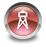 "Red Glossy Pictogram ""Lookout Tower"""