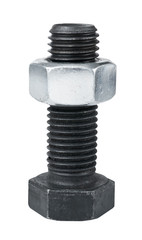 Big screw with nut