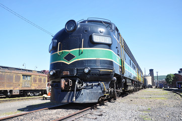 Diesel Locomotive at Steamtown NHS in Scranton, Pennsylvania
