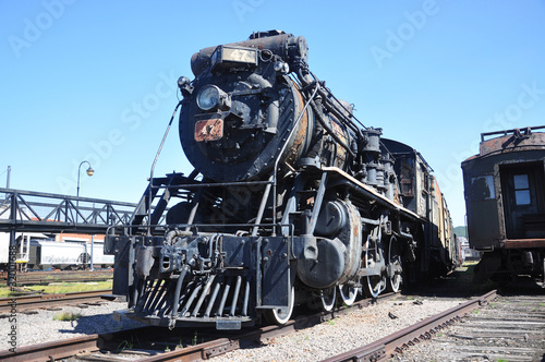 Steam locomotive in Steamtown NHS in Pennsylvania, USA