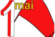 Red Flag of May Day in France