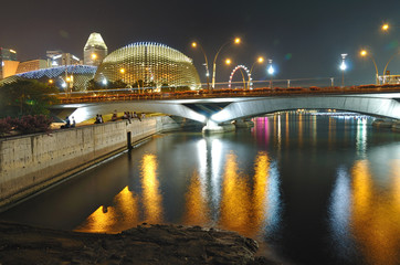 Esplanade at Night, Singapore