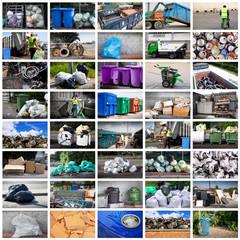 raccolta rifiuti collage