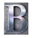 Typescript upper case B   letter poster
