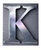 Typescript upper case K   letter poster