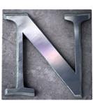 Typescript upper case N   letter poster