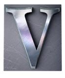 Typescript upper case V   letter poster