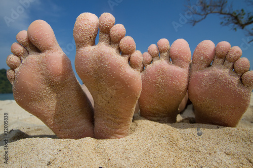 Happy Feet in the Beach