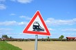 Schild Bahnübergang