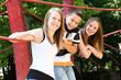 Jugendliche glücklich