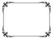 Vector simple black ornamental decorative frame