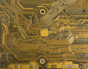 Electronic circuits on PC motherboard