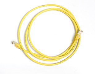 Yellow network cable
