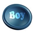 Pulsante blu ragazzo - Blue boy button