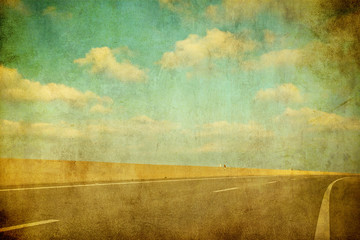 grunge image of highway