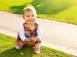 Cute baby girl playing