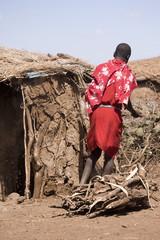 Masai in his house