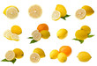 Collection of lemons and orange
