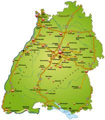 Baden-Württemberg grün mit AB in SVG