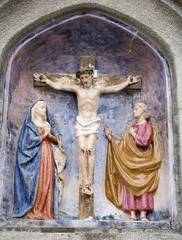 Jesus on the cross - ceramic cross-way - Mariazell - Austria
