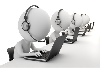 3d small people - call center